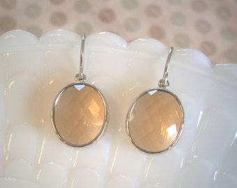 Dangle, Drop, Clearance Sale, Jewelry Sale, Blush Earrings, Silver Earrings, Bridesmaid Earrings, Best Friend, Birthday