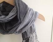 Antrasit Grey Shawl Neckwarmer Fabric Scarf Shawl