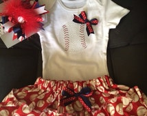 Bedazzled baseball 4 piece outfit