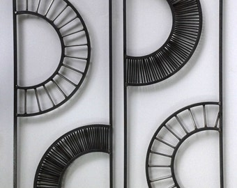 FREE SHIPPING- Metal Wall Art Panels Handmade Wheels Series4- Home and Garden Decor