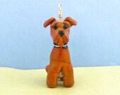 Airedale Terrier - Lampwork Bead Art SRA