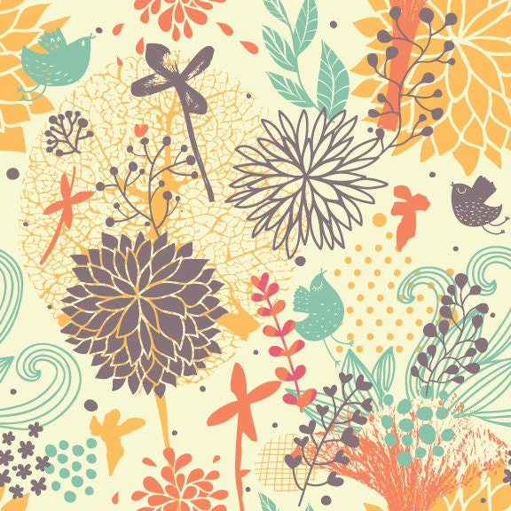 fantastically floral removable wallpaper 8 feet by