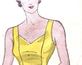 Vintage Simplicity 1336 early 1930s slip sewing pattern Bust 38