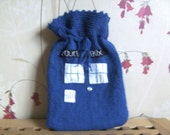 Tardis hot water bottle cover