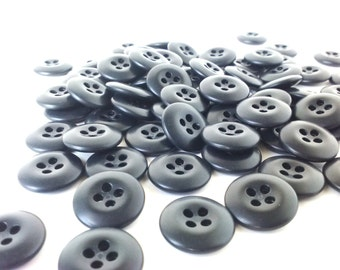 Black Buttons -11/16 inch - 75