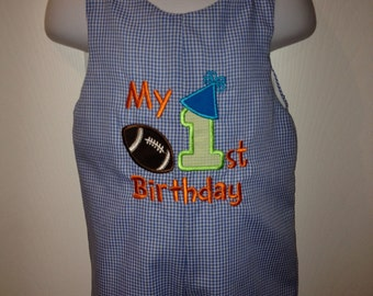 My first birthday longall size 9mo to 2T