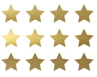 Metallic Gold Vinyl Wall Stars Decals