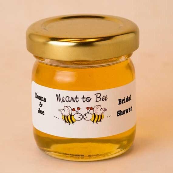 Round Raw Honey Wedding Favors 48 Honey Jar Favors For