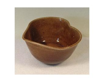 Porcelain Small Light Brown Heart Bowl