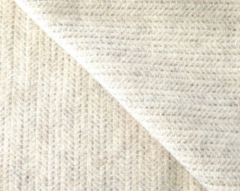 Soft Grey Texture Felted Wool Fabric / One Fat Quarter or One Fat Eighth Yard in 100% Wool