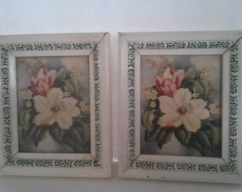 Vintage Dogwood Flower Prints Set of Two