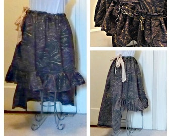 Debauchery Skirt Grunge Ready to Ship One Size Chains Brass Keys Womens Dungeon Mistress Tattered Halloween