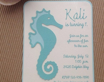 Seahorse Invitations
