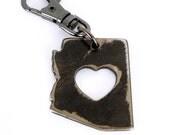 Love Arizona Key Chain by WATTO Distinctive Metal Wear / handmade Florida state keychain