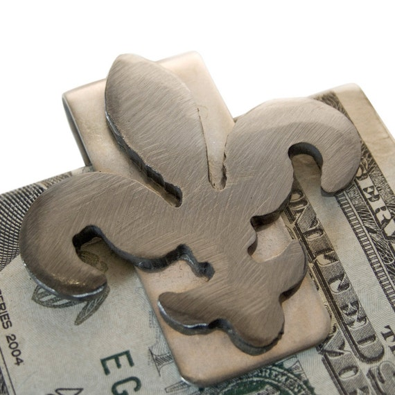 Money Clip / Fleur De Lis Money Clip, Gifts For Men, Fathers Day Gifts, Gifts For Dad, Gifts For Him, Groomsmen Gift