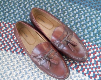 Vintage Shoes Men's Leather Shoes Loafers Dockers Brown Shoes Size 10.5  Medium