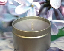 GARDEN MY FRENCH Lilac Candles - Handmade Soy Candle Tins