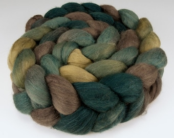 Polwarth Silk Top, Handpainted, 4 oz., Blue Spruce