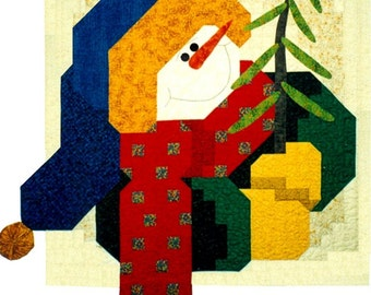 Happy Snowman Quilt Pattern With FREE Hillcreek Buttons & Free shipping Included