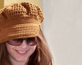 Crochet PATTERN, Crochet Newsboy Hat Pattern, Crochet Newsboy Pattern, Newsboy Cap Pattern, Easy Crochet Patterns Crochet Summer Hat Pattern