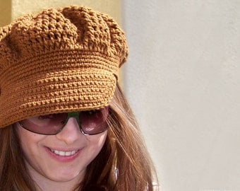 Crochet PATTERN, Crochet Newsboy Hat Pattern, Crochet Newsboy Pattern, Newsboy Cap Pattern, Easy Crochet Patterns Crochet Summer Hat Pattern