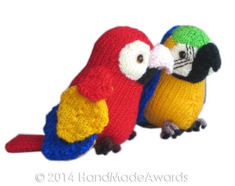 Pepper the Yellow Little PARROT Pdf Email Knit PATTERN