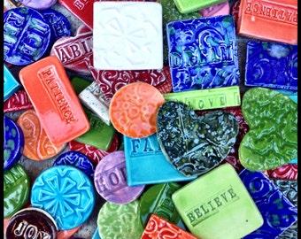 Mosaic Tiles - 25 Mixed Bag Ceramic Tiles