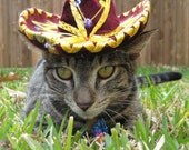 Customizeable Sassy Sangria Sombrero for cat or dog