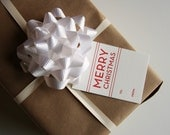 Letterpress Holiday Gift Tags - Merry Christmas - Set of 9