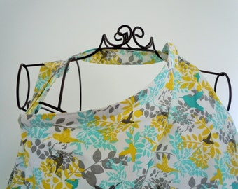 Couture Mama Nursing Cover - Teal Hummingbird -  Plus a FREE set of Hooter Soothers Washable nursing pads