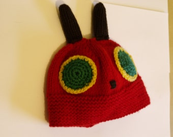 The Very Hungry Caterpillar Hat pattern