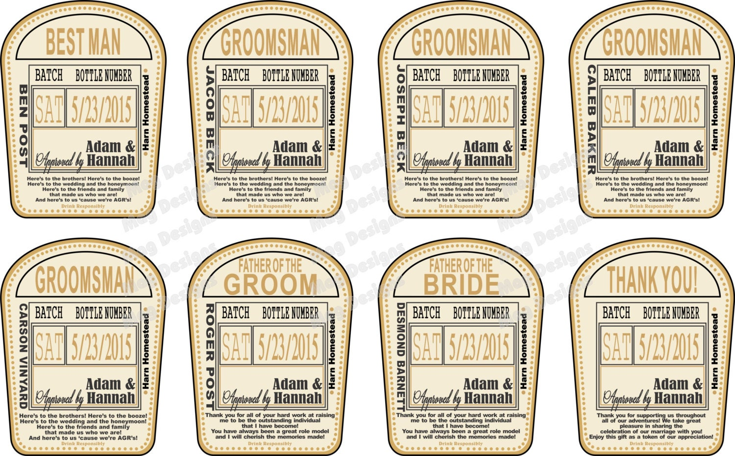Will you be my groomsman wedding liquor labels or thank you for Groomsman liquor bottle labels
