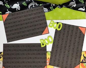 Scrapbooking Layout Halloween Boo 12x12 2 page scrapbook kit premade