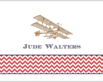 Vintage Airplane Folded Notes (box of 10)