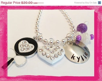 Personalized Necklace - Hand Stamped Jewelry for Children - LOLLIPOP AND LOVE