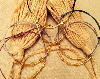 SALE Naz Collection Gold Plated Nugget Bracelet