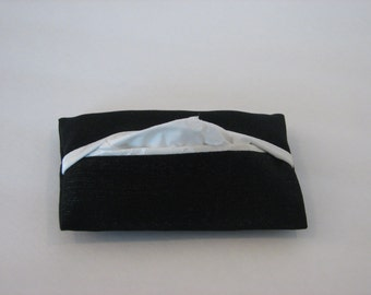 Black and White, Travel, Pocket Tissue Cover, Satin, Lined