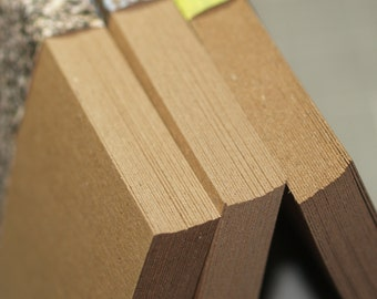 """Full Sheets (25) ... Kraft Chipboard 8.5"""" x 11"""" Lightweight Photo Backing Scrapbooking Rustic Recycled Cardstock Craft Supply Art Supplies"""