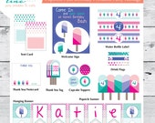 Popsicle Pool Printable Party Package - Little Girl - Any Birthday Age - Polka Dots