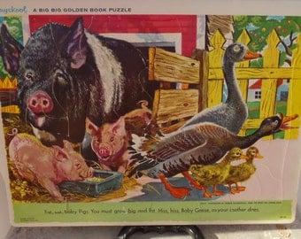 Vintage Children's Puzzle Playskool Feodor Rojankovsky