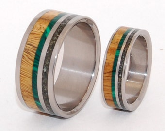 wedding rings, titanium rings, wood rings, mens rings, womens ring, Titanium Wedding Bands, Eco-Friendly Rings - AORAKI