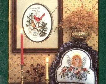 Home Again Cardinals Snowy Fir Tree Angel Lilies Sampler Snowflake Star Christmas Counted Cross Stitch Embroidery Craft Pattern Leaflet 42