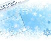 Snowflake Border Clipart, Falling Snowflake Clipart, Winter Clipart, Snow Clipart, Snowflake