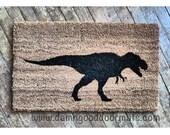 T Rex security warning doormat