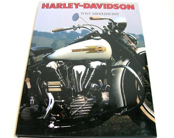 Harley-Davidson By Tony Middlehurst Vintage Book