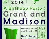 St Patricks / Shamrock Party Invitation