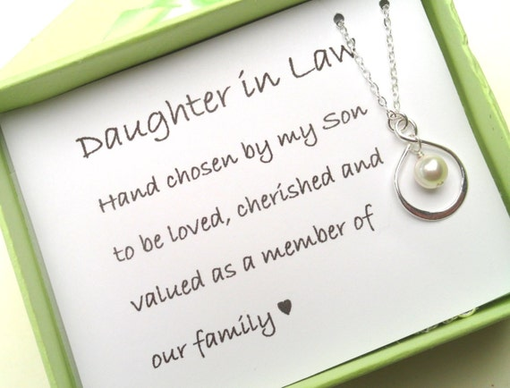 Wedding Gifts For Daughter In Law : Daughter In Law GiftGift Boxed Jewelry Thank You Gift