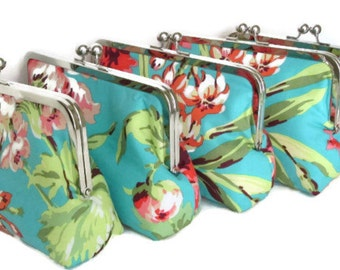 Wedding Clutch purse for Bridesmaids - You choose fabrics - Gifts Designed by You for your Wedding Party
