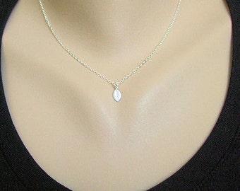 Tiny Leaf Necklace, Minimalist jewelry