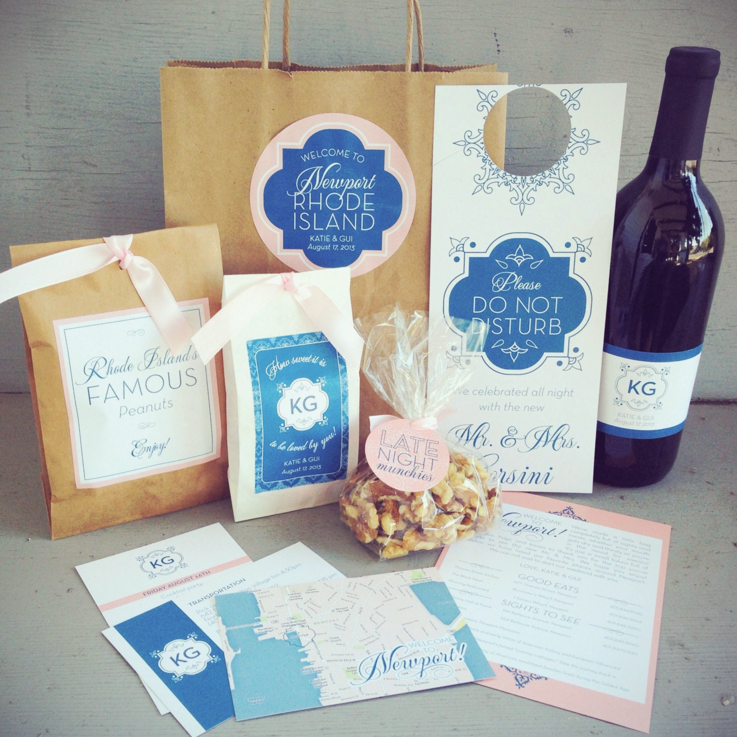 Wedding Welcome Bag Ideas Cheap : Wedding Guest Welcome Bag with Paper Bag & Accessories 10